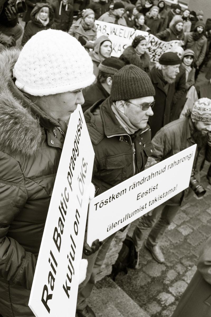Rail Baltic- rahvas vajab tõde meeleavaldus