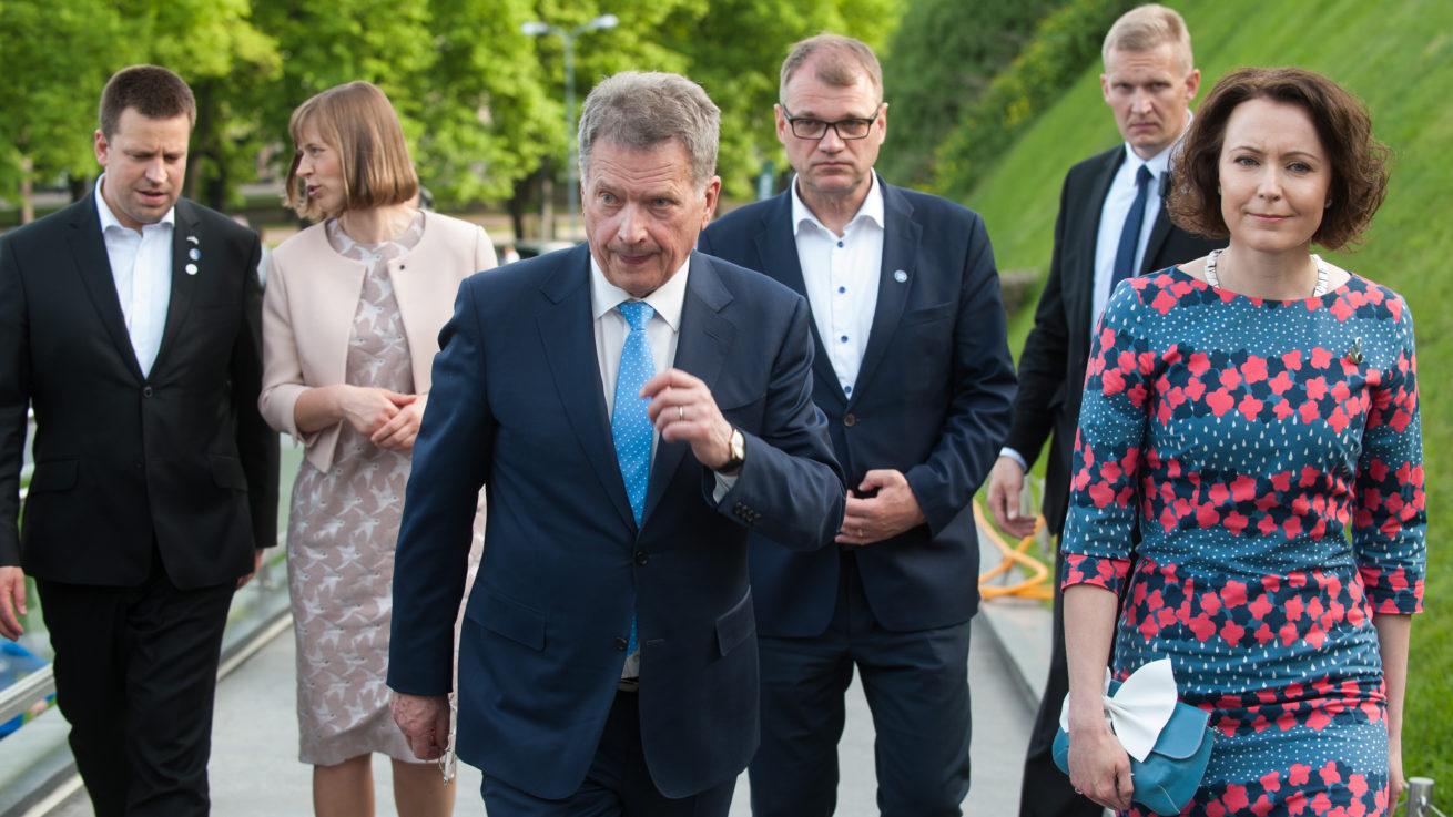Soome ja Eesti riigijuhid Soome 100, Vabaduseväljak