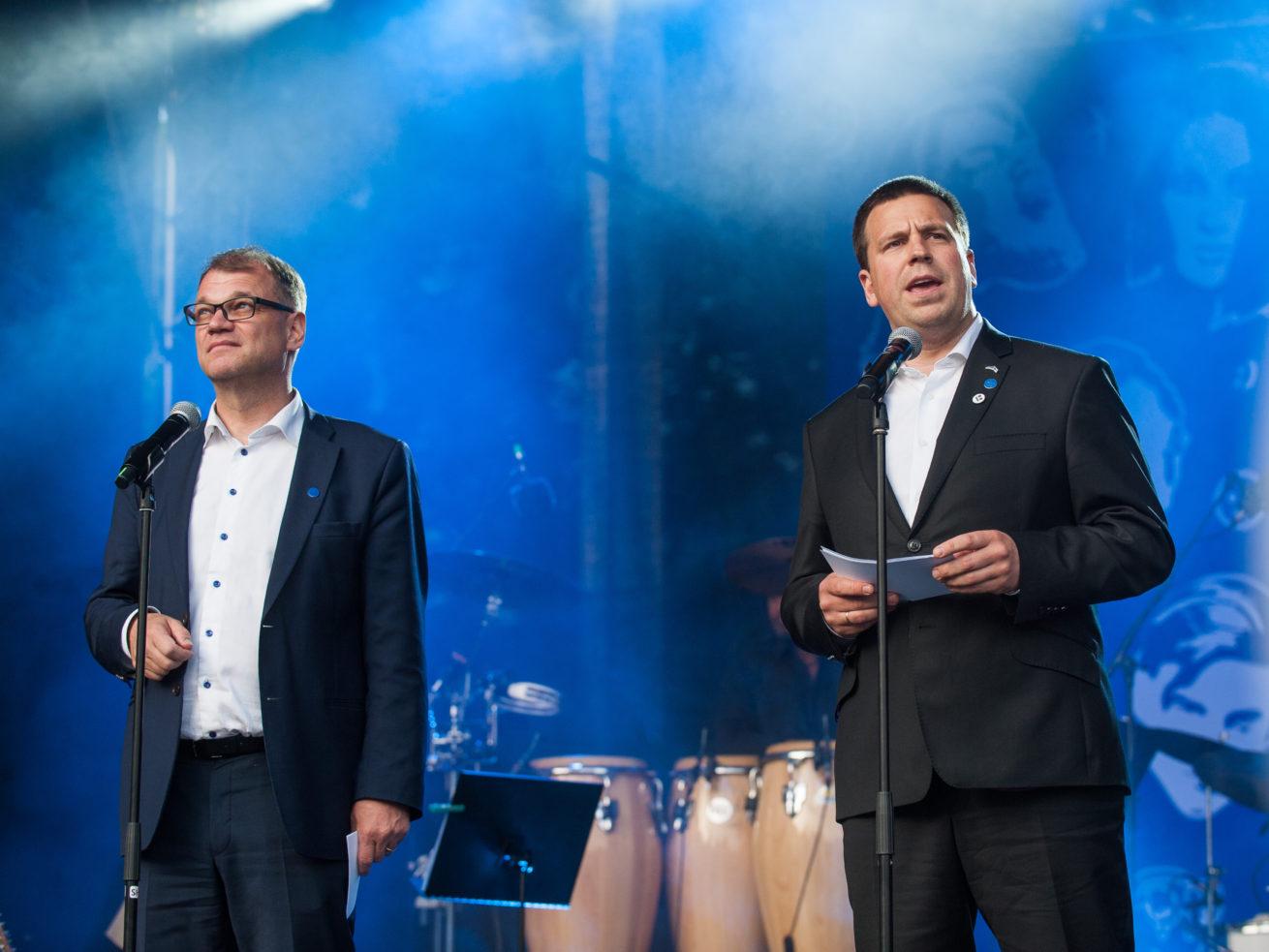 Juha Sipilä ja Jüri Ratas